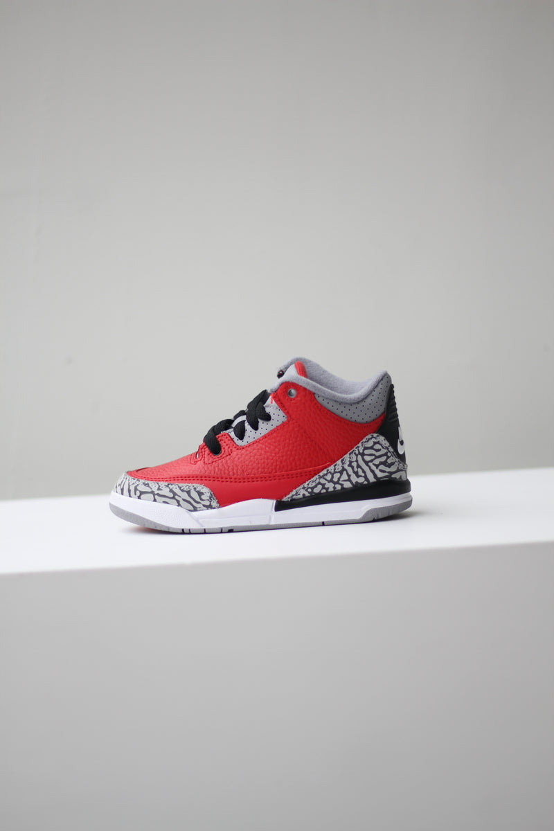"JORDAN 3 RETRO SE (PS) ""FIRE RED"""
