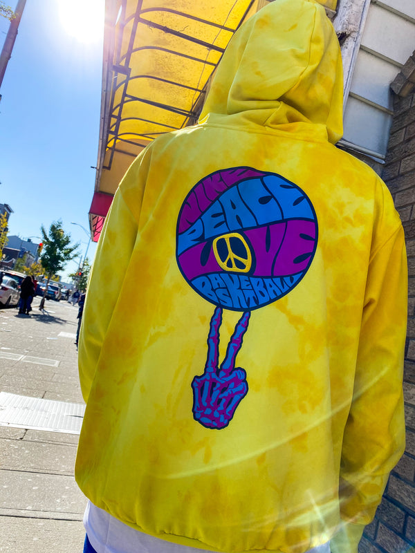 "NIKE HOODIE PEACE, LOVE, BASKETBALL ""SPEED YELLOW"""
