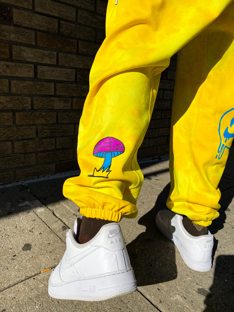"NIKE PANTS PEACE, LOVE, BASKETBALL ""SPEED YELLOW"""