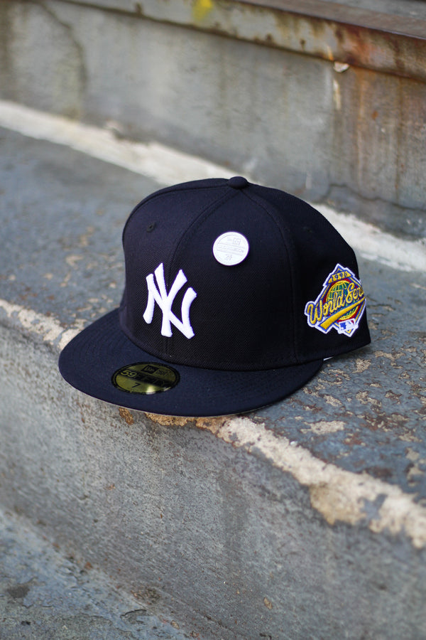 1996 NEW YORK YANKEES NAVY FITTED W/ GREY UNDER VISOR