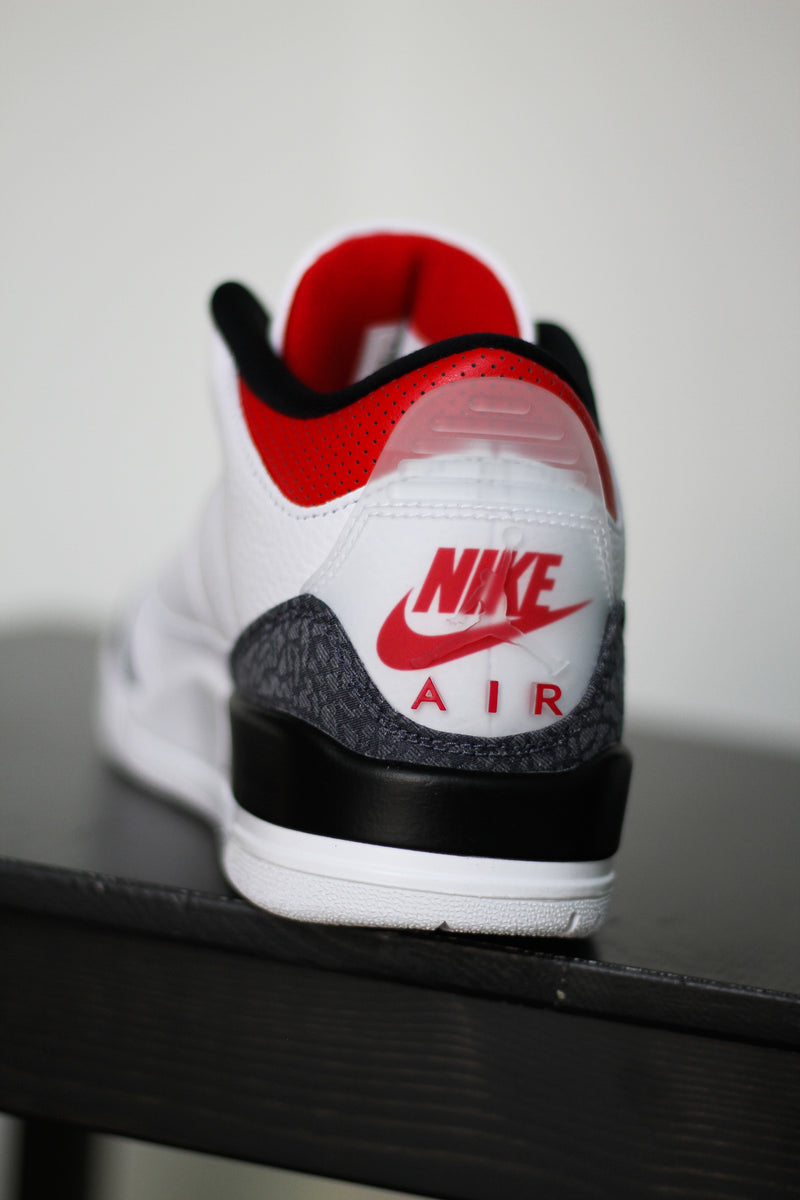 "AIR JORDAN 3 RETRO (GS) ""DENIM FIRE RED"""