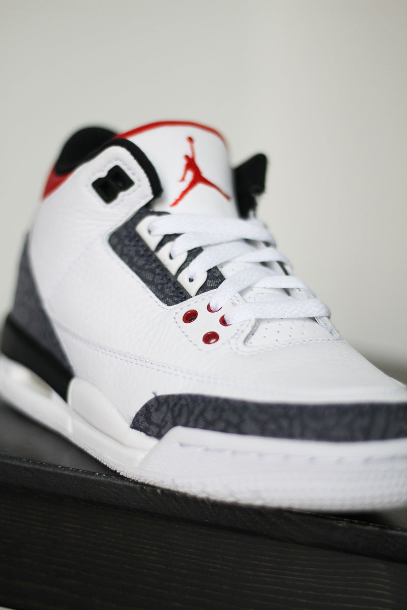 "AIR JORDAN 3 RETRO SE (PS) ""DENIM FIRE RED"""