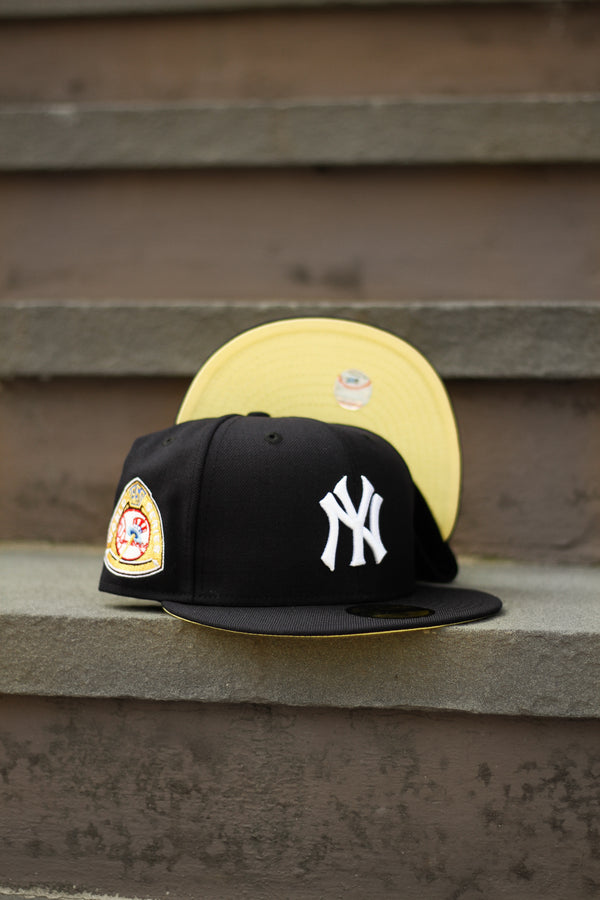 1950 NEW YORK YANKEES NAVY FITTED W/ BUTTER YELLOW UNDER VISOR