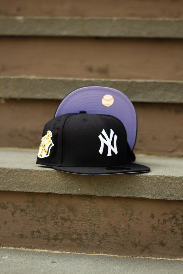 1951 NEW YORK YANKEES NAVY FITTED W/ LAVENDER UNDER VISOR