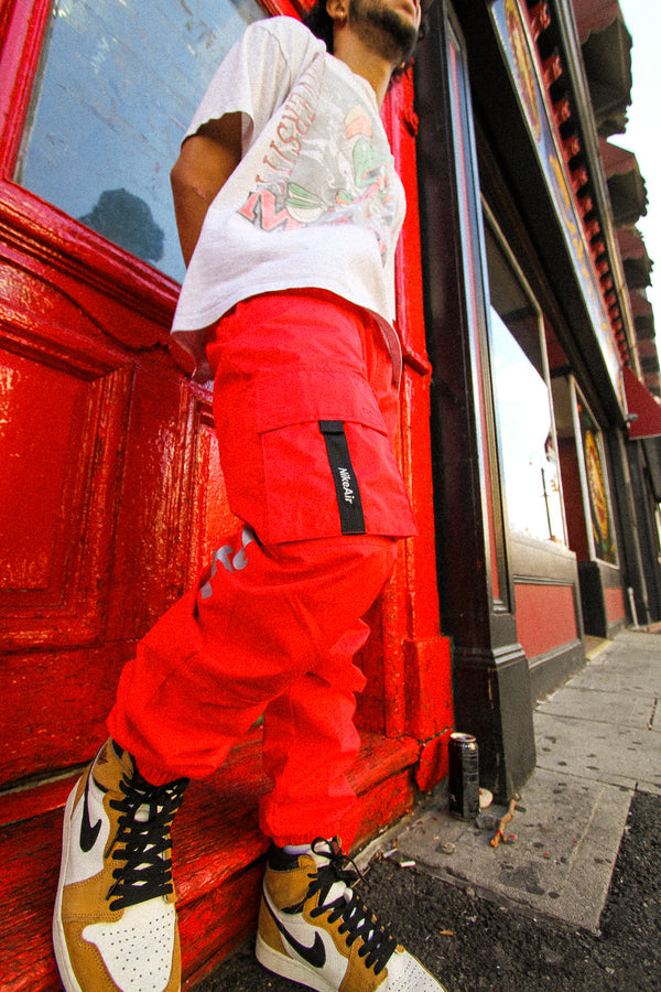 "NSW WOVEN CARGO PANTS ""UNIVERSITY RED"""