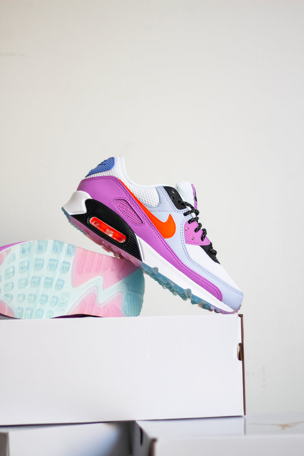 "W AIR MAX 90 ""WHT/HYPER CRIMSON"""
