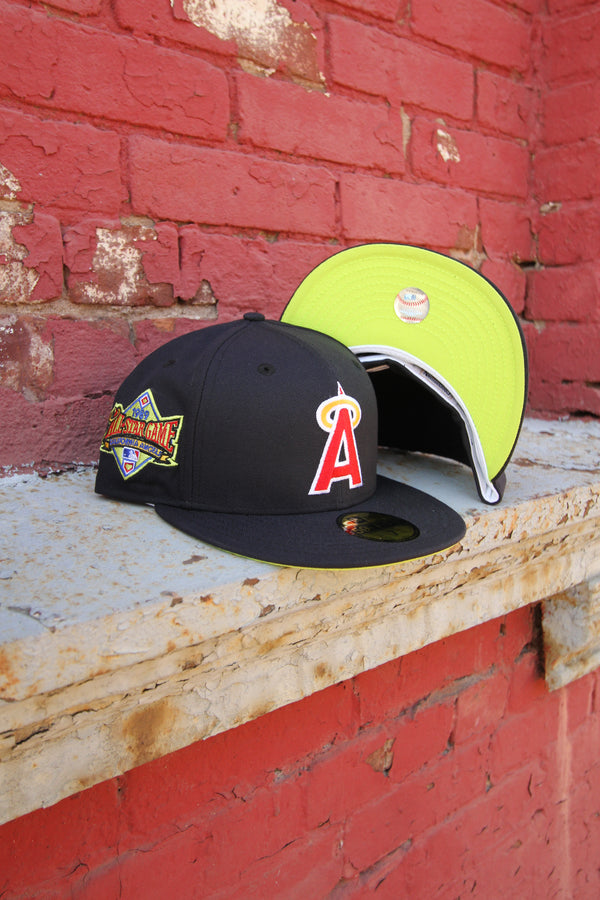 1989 CALIFORNIA ANGELS NAVY FITTED W/ KIWI UNDER VISOR
