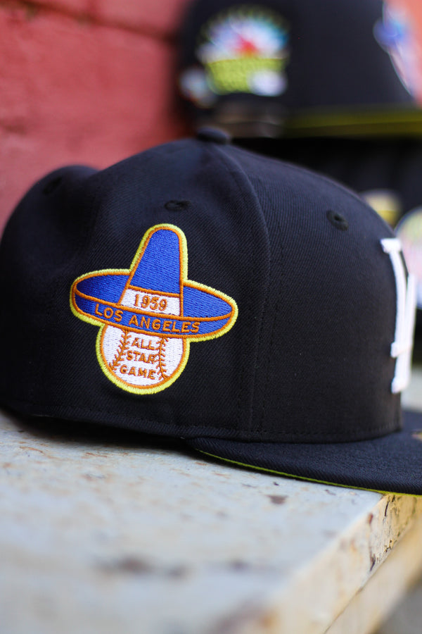 1959 LOS ANGELES DODGERS NAVY FITTED W/ KIWI UNDER VISOR