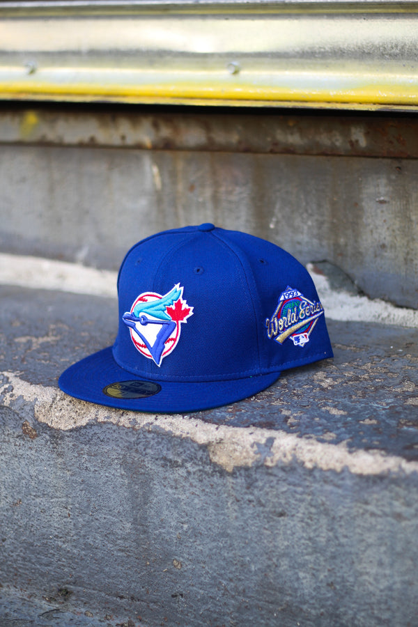 1993 TORONTO BLUE JAYS BLUE FITTED W/ GREEN UNDER VISOR