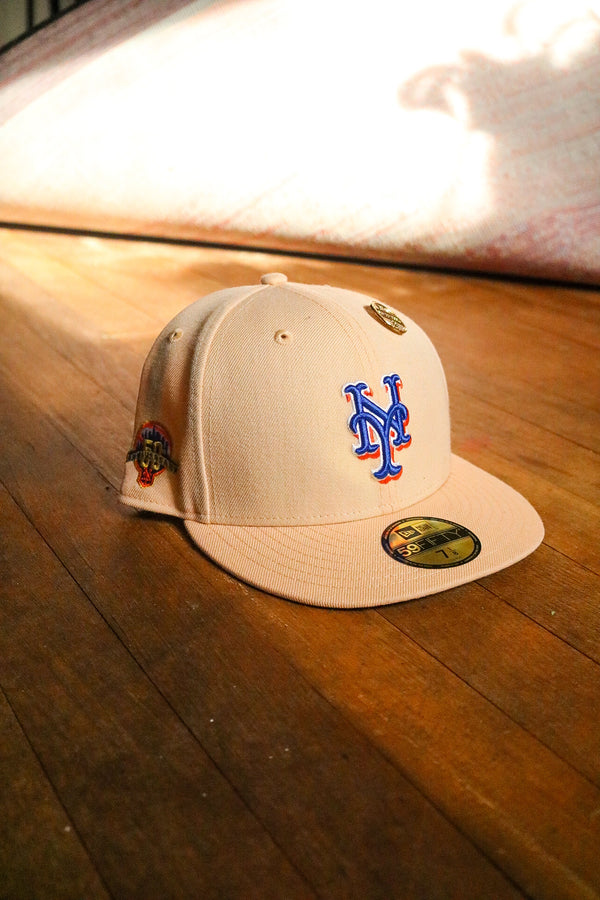 2012 NEW YORK METS MANGO MOCHA FITTED W/ GREY UNDER VISOR