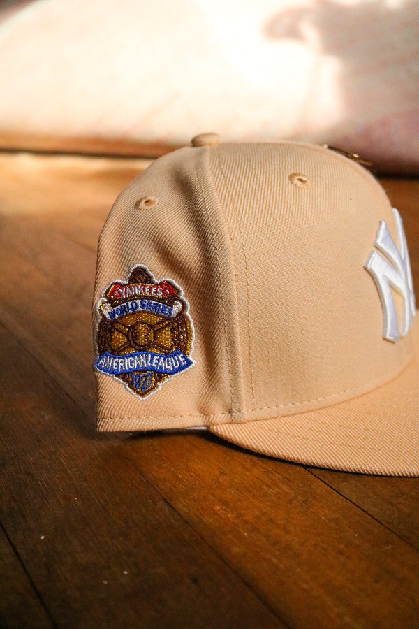 1927 NEW YORK YANKEES MANGO MOCHA FITTED W/ GREY UNDER VISOR