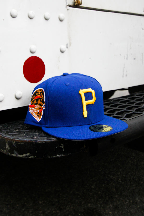 1959 PITTSBURGH PIRATES ROYAL FITTED W/ GREY UNDER VISOR