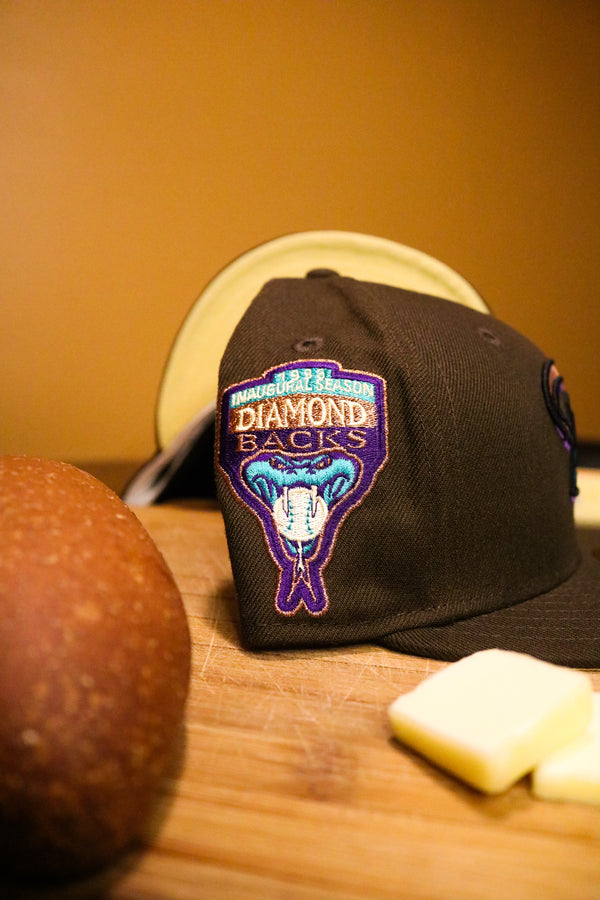 1998 ARIZONA DIAMONDBACKS BROWN FITTED W/ BUTTER UNDER VISOR