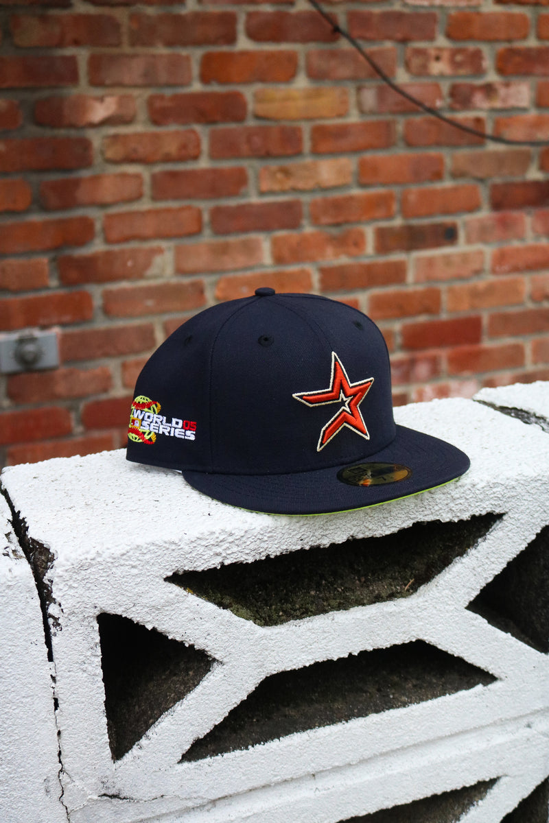 2005 HOUSTON ASTROS NAVY FITTED W/ KIWI UNDER VISOR