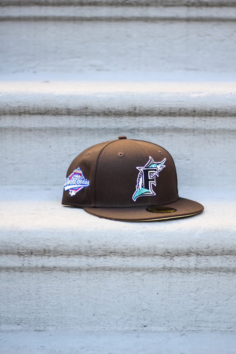 1997 FLORIDA MARLINS BROWN FITTED W/ BUTTER UNDER VISOR