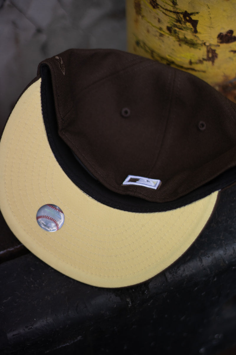 2003 MONTREAL EXPOS BROWN FITTED W/ BUTTER UNDER VISOR