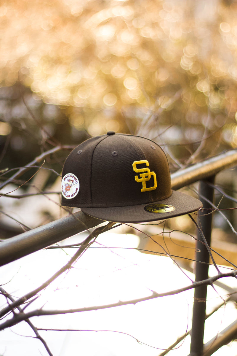 1978 SAN DIEGO PADRES BROWN FITTED W/ BUTTER UNDER VISOR