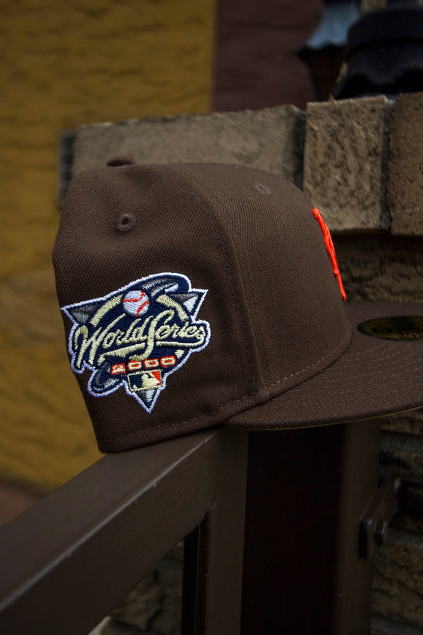 2000 NEW YORK METS BROWN FITTED W/ BUTTER UNDER VISOR