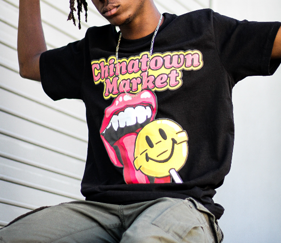 "SMILEY LOLLIPOP TEE ""BLACK"""