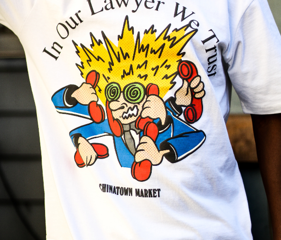 "TRUST OUR LAWYER TEE ""WHITE"""