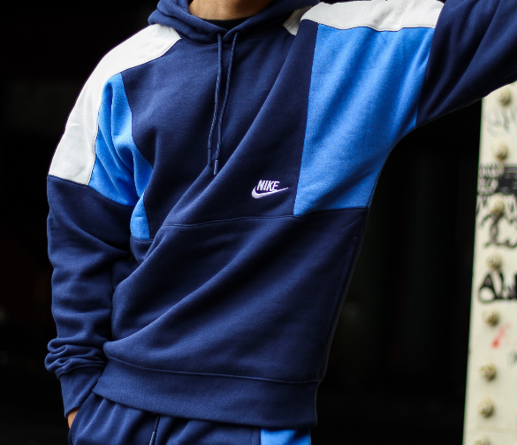 "COLORBLOCK RETRO PULLOVER ""NAVY"""
