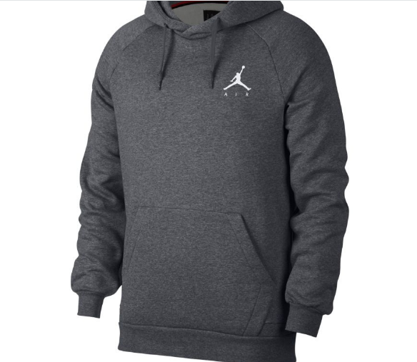 "JUMPMAN FLEECE PULLOVER ""GREY"""