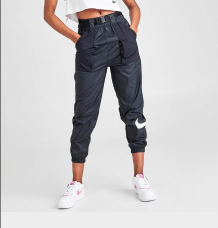 "W SWOOSH PANTS ""BLACK"""