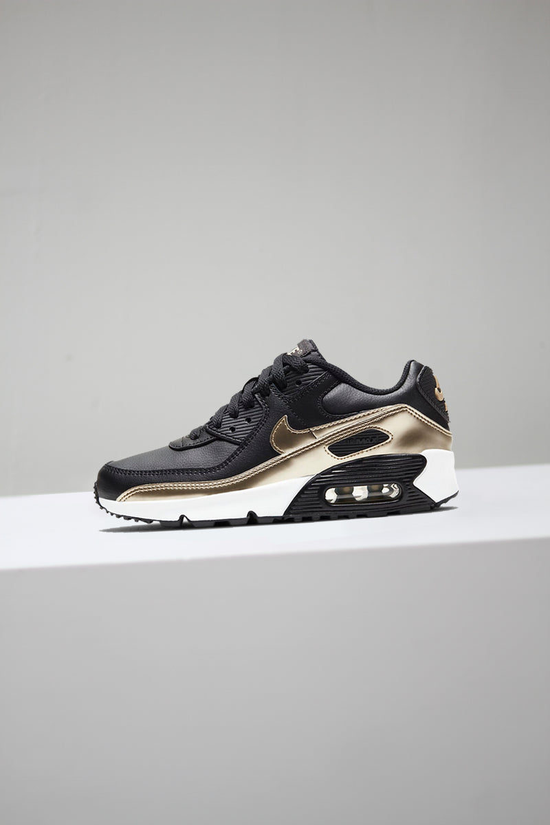 "AIR MAX 90 LTR (GS) ""BLACK/GOLD"""
