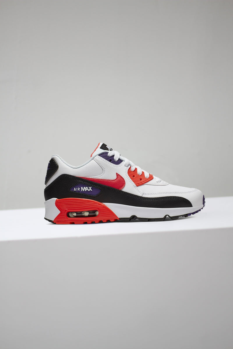 "AIR MAX 90 ""WHT/CRIMSON"" (GS)"