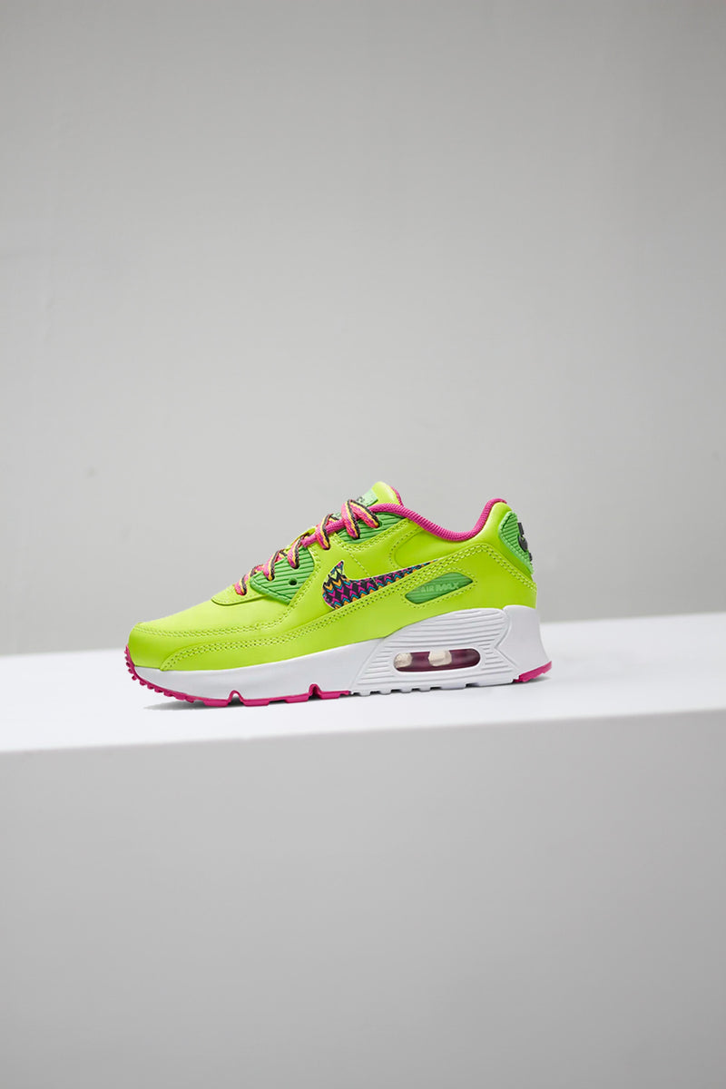 "AIR MAX 90 LTHR (PS) ""VOLT/FIRE PINK"""