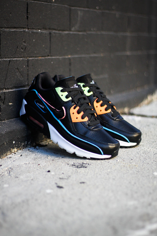"AIR MAX 90 SE (GS) ""BLK/BLUE FURY"""