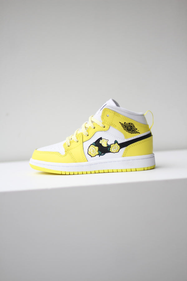 "JORDAN 1 MID SE (PS) ""DYNAMIC YELLOW"""