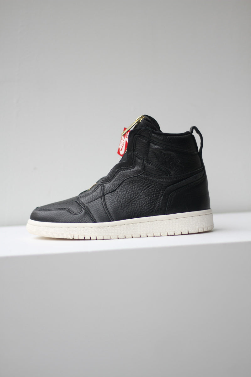 "W AIR JORDAN 1 HIGH ZIP ""BLK/SAIL"""