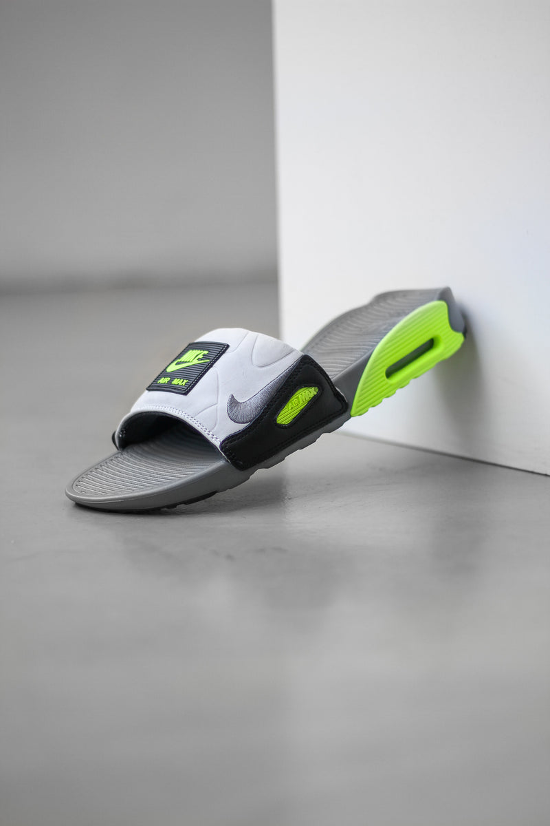 "NIKE AIR MAX 90 SLIDE ""SMOKE GREY/VOLT"""