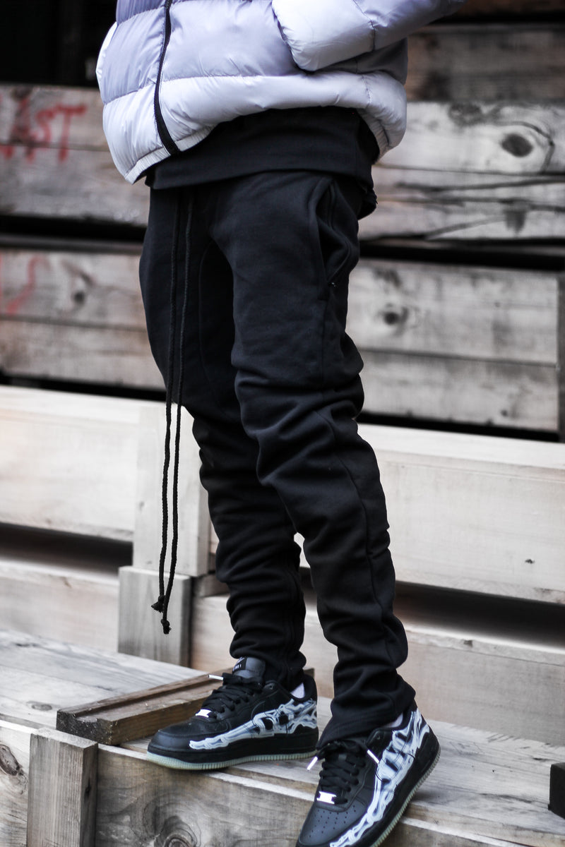 "EPTM GUSSET FLEECE PANTS ""BLACK"""