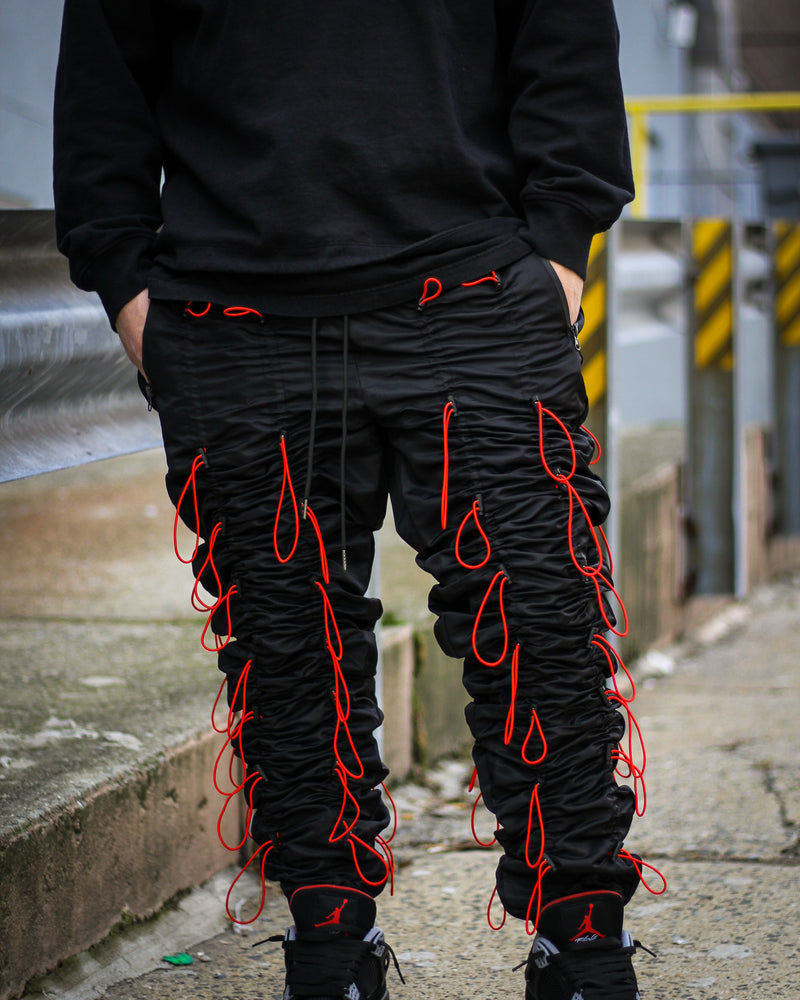 "EPTM ACCORDION PANTS ""BLACK/RED"""