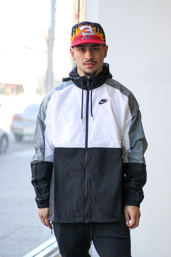 "NSW HOODED WOVEN JACKET ""WHITE/GREY"""