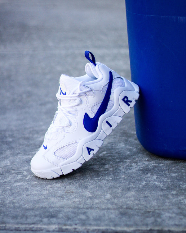 "NIKE AIR BARRAGE LOW ""WHT/HYPER BLUE"""