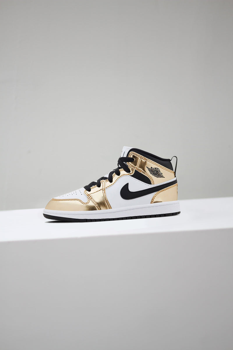 "JORDAN 1 MID SE (PS) ""METALLIC GOLD"""