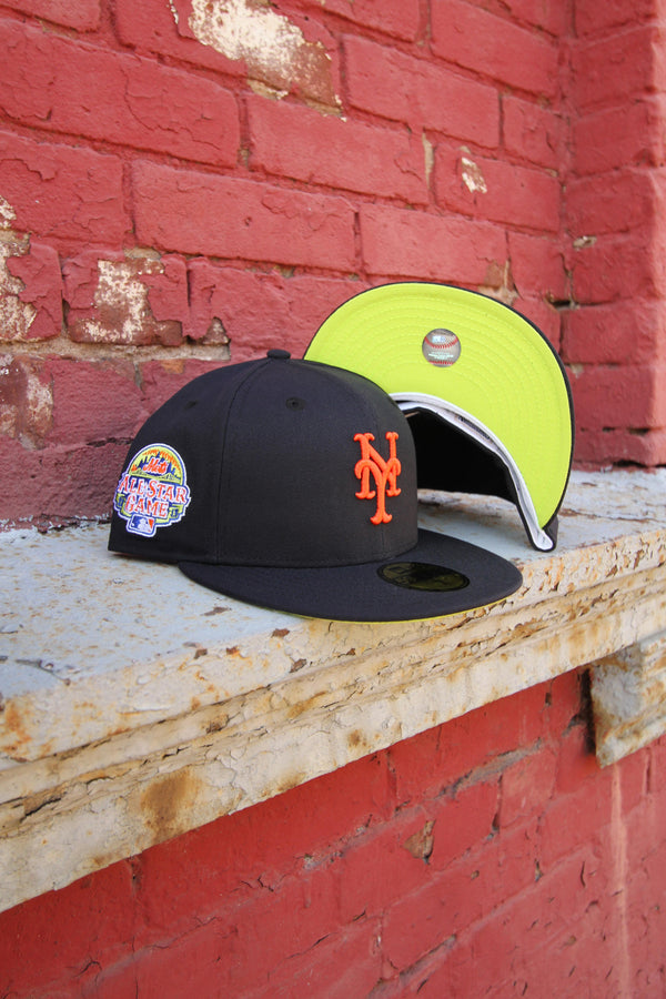 2013 NEW YORK METS NAVY FITTED W/ KIWI UNDER VISOR