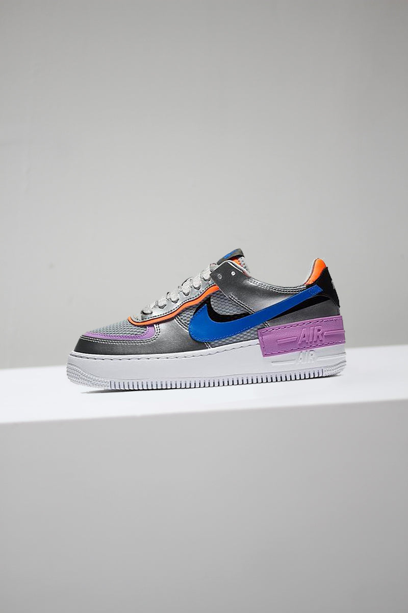 "W NIKE AIR FORCE 1 SHADOW ""METALLIC SILVER"""