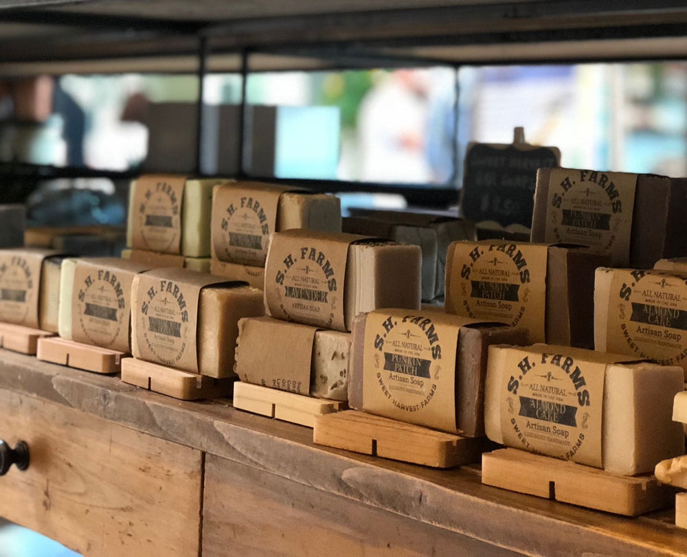 Organic Handmade Soap by Sweet Harvest Farms does not contain chemicals or preservatives of any kind. Not only can you feel the difference but you can actually smell the difference. Wholesale available