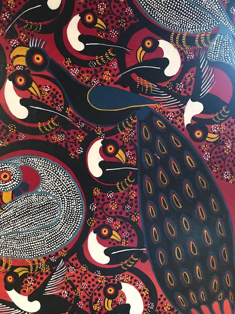 Tinga Tinga African Art handsigned by A. Hassini