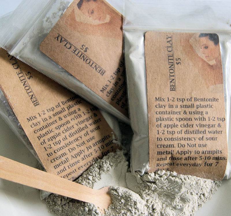 Bentonite Clay - Food Grade/Organic for Detoxing Arm Pits