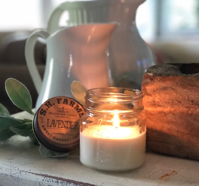 Organic Soy Candles Hand Poured, and made, with non-toxic cotton wicks