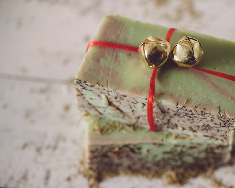 Christmas Thyme Seasonal Organic Handmade Soap. Always made from scratch! This organic soap will last 8-10 weeks in the shower. We also offer our wholesale organic soap