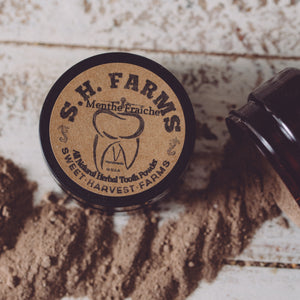 Organic and Natural Tooth Powder - Fluoride FREE