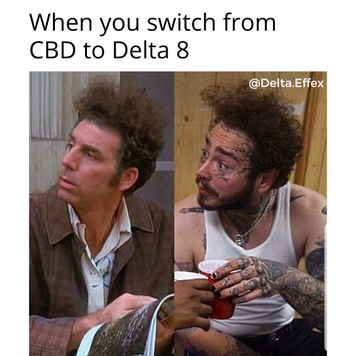 Switch from CBD to Delta 8 THC Meme