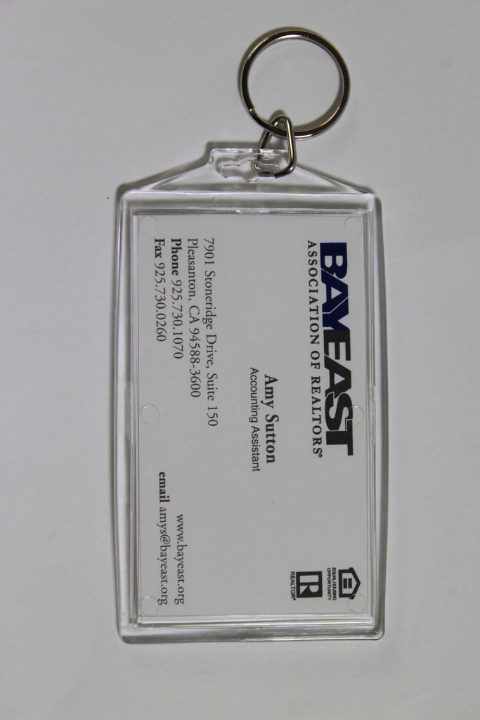 Acrylic Business Card Keychain