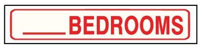 7600R  __ BEDROOM SIGN RIDER